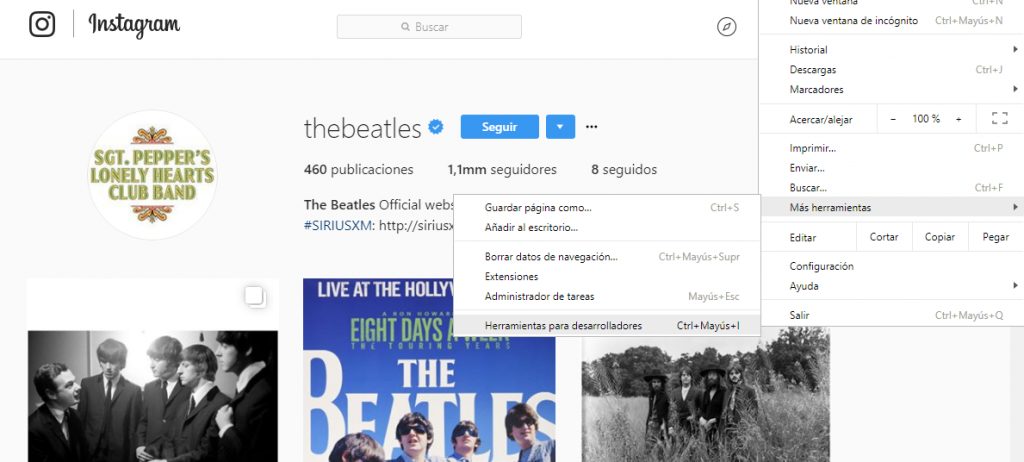 como descargar instagram para pc