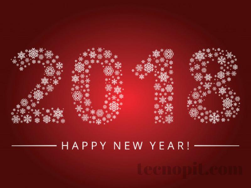 felicitacion tarjeta de año nuevo 2018 2