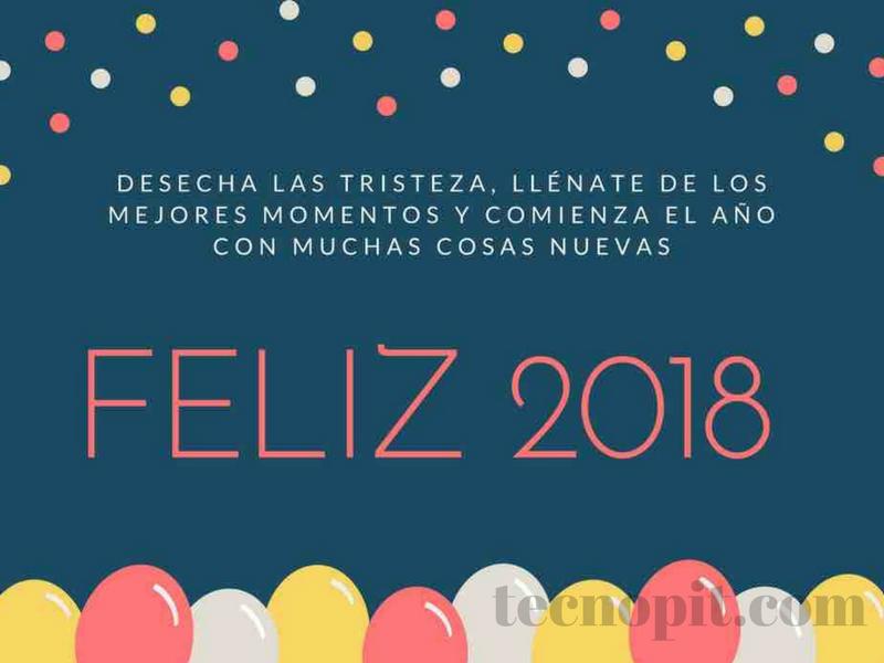 felicitacion tarjeta de año nuevo 2018